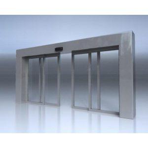 درب اتوماتیک شیشه ای کشویی دو طرفه